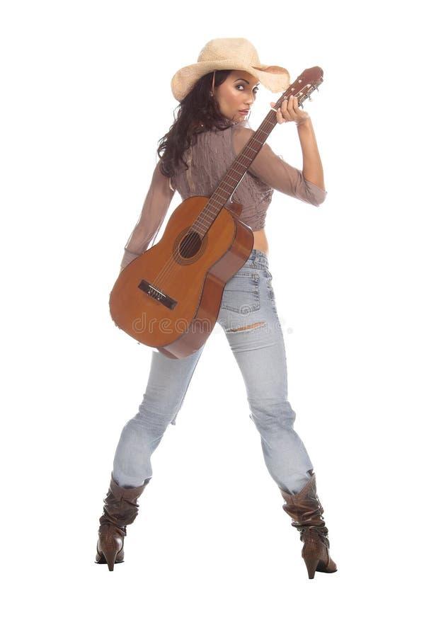 Download Cowgirl-Gitarre stockbild. Bild von boobs, fashion, guitarre - 850207