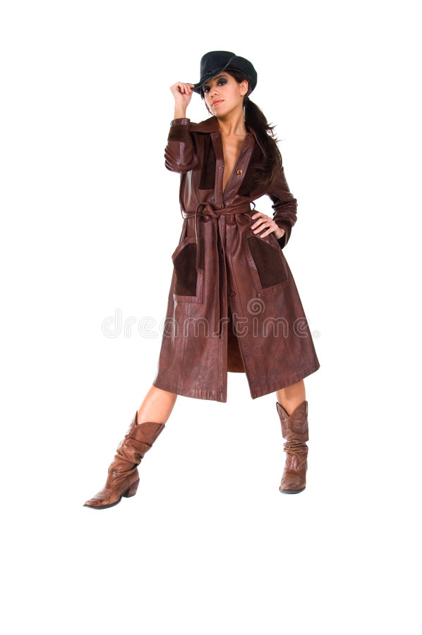 Cowgirl im Staubtuch stockfotos