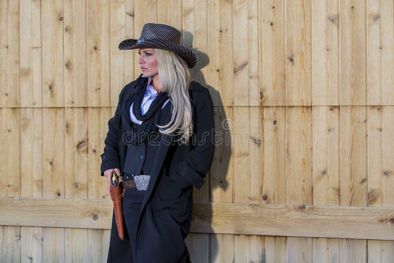 Cowgirl louro 'sexy' fotos de stock royalty free