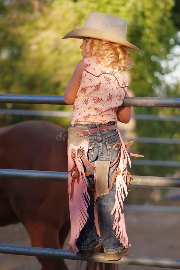 cowgirl piccolo fotografia stock