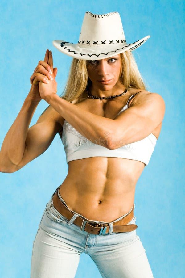 cowgirl poważny obraz stock