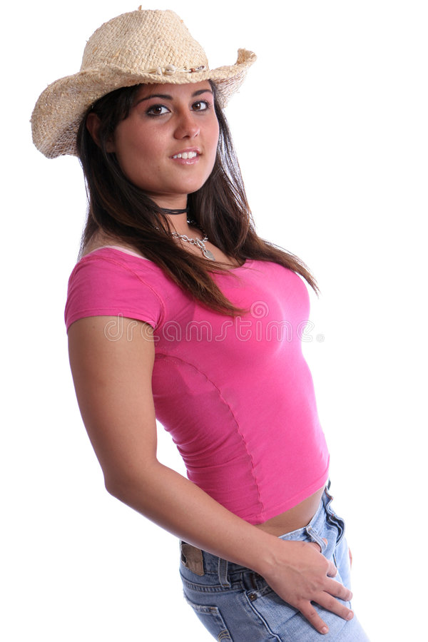 Cowgirl six stock images