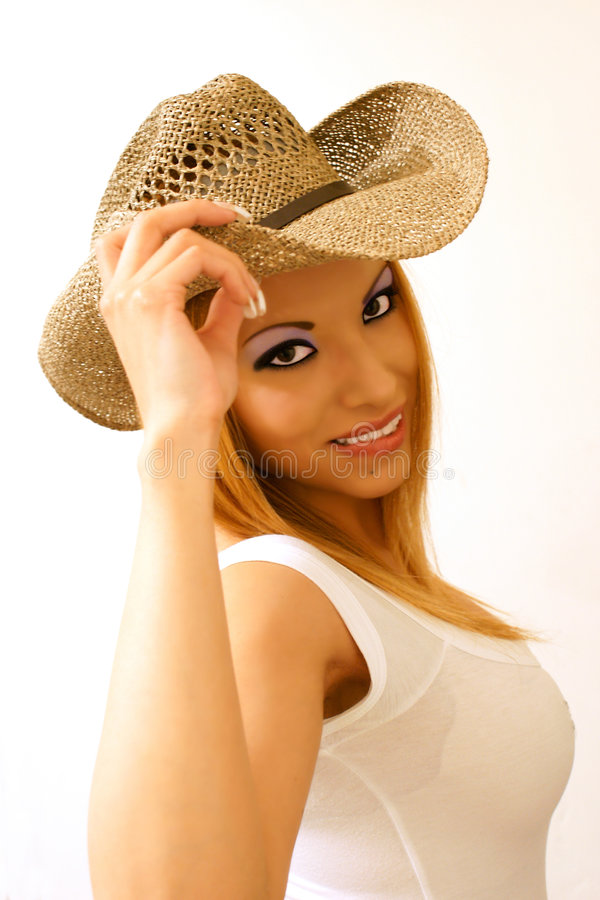 cowgirl smiling στοκ εικόνα