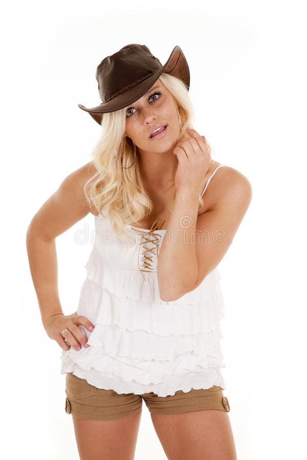 Download Cowgirl stare stock photo. Image of complexion, button - 24564552