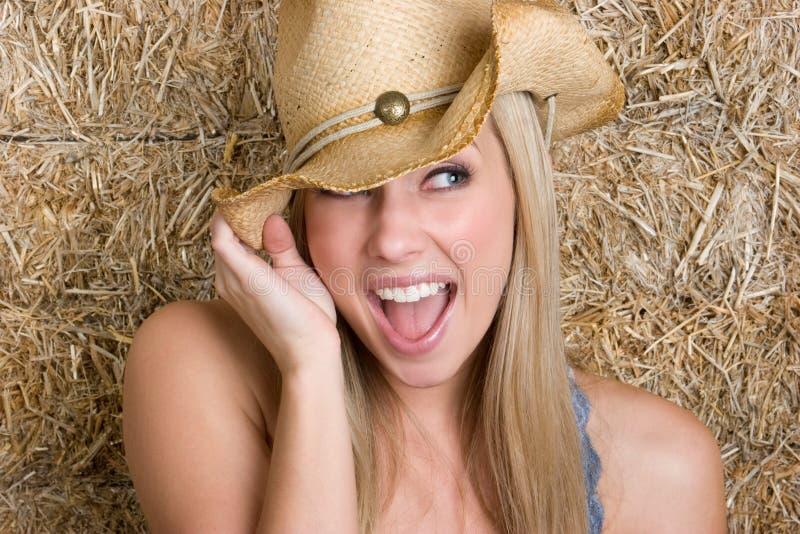 cowgirl szczęśliwy obrazy stock