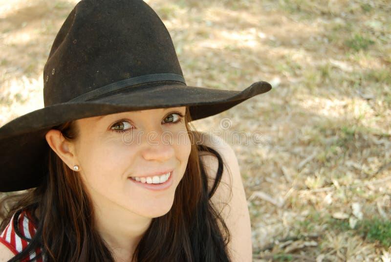 cowgirlhatt arkivfoto