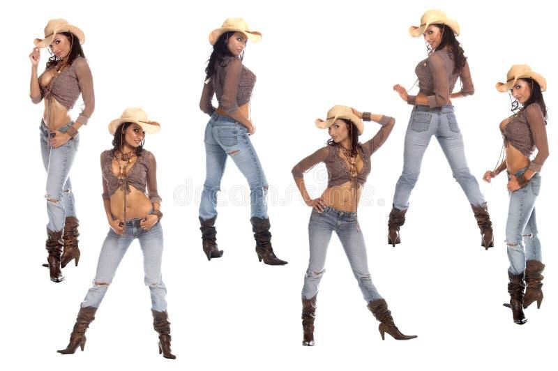 cowgirls προκλητικός στοκ φωτογραφία με δικαίωμα ελεύθερης χρήσης
