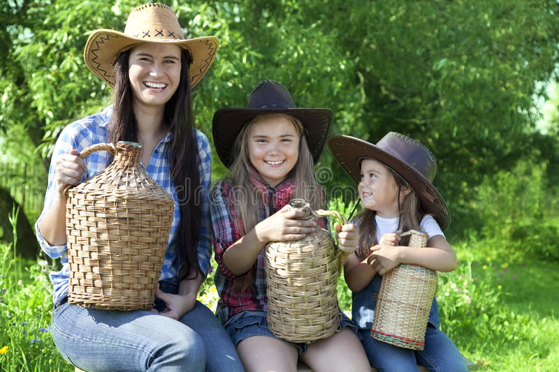 Cowgirls stock photography