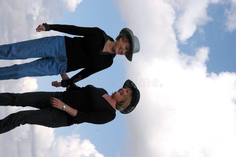 cowgirls mature στοκ εικόνες