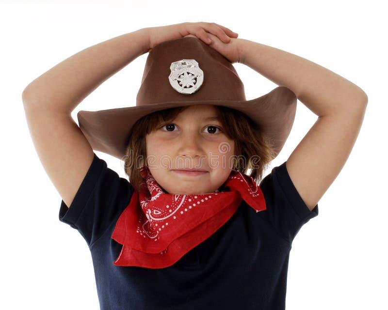cowgirlsheriff fotografering för bildbyråer