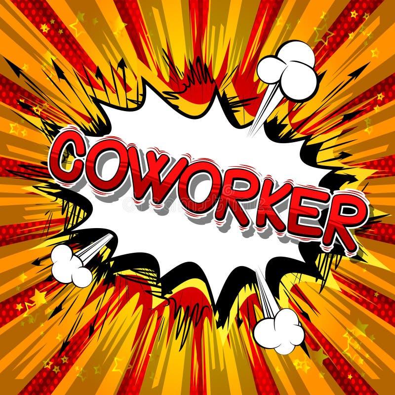 Coworker - humorbokstilord vektor illustrationer