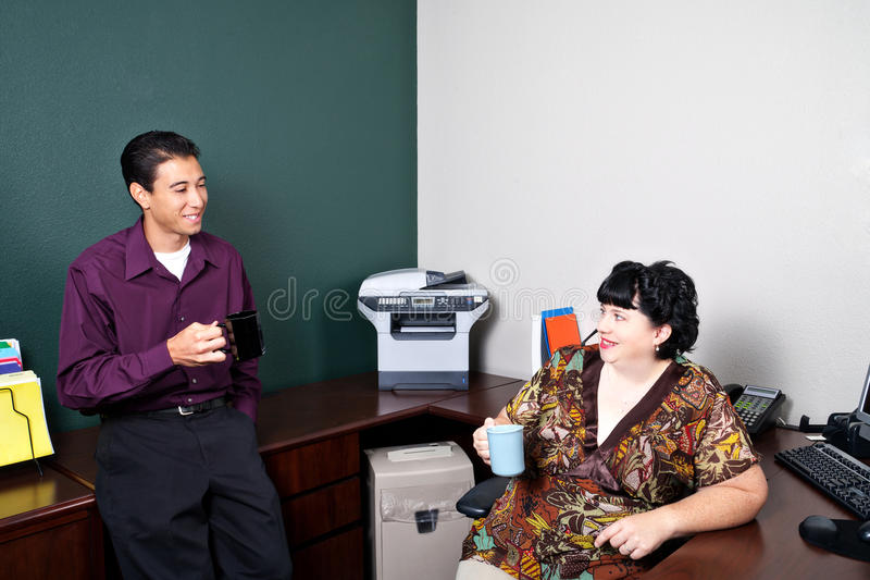 Download Coworkers on Coffee Break stock image. Image of business - 17371315