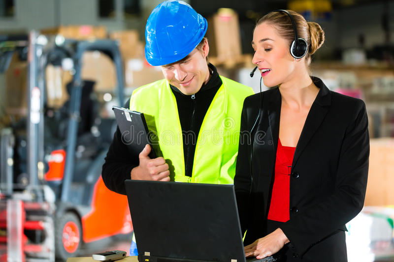 Download Coworkers At Warehouse Of Forwarding Company Stock Image - Image: 28876423