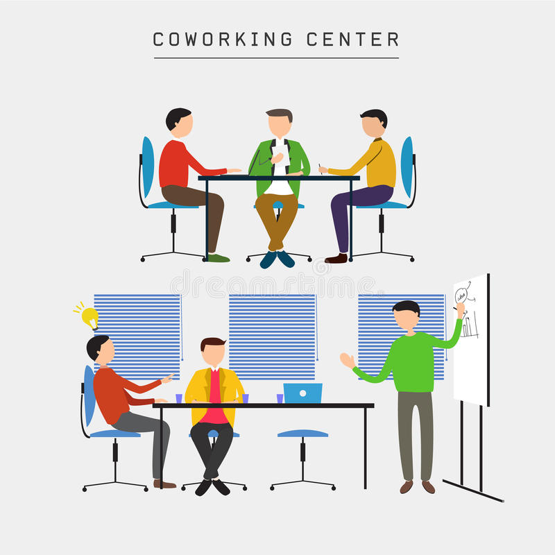 Coworking中心 库存例证