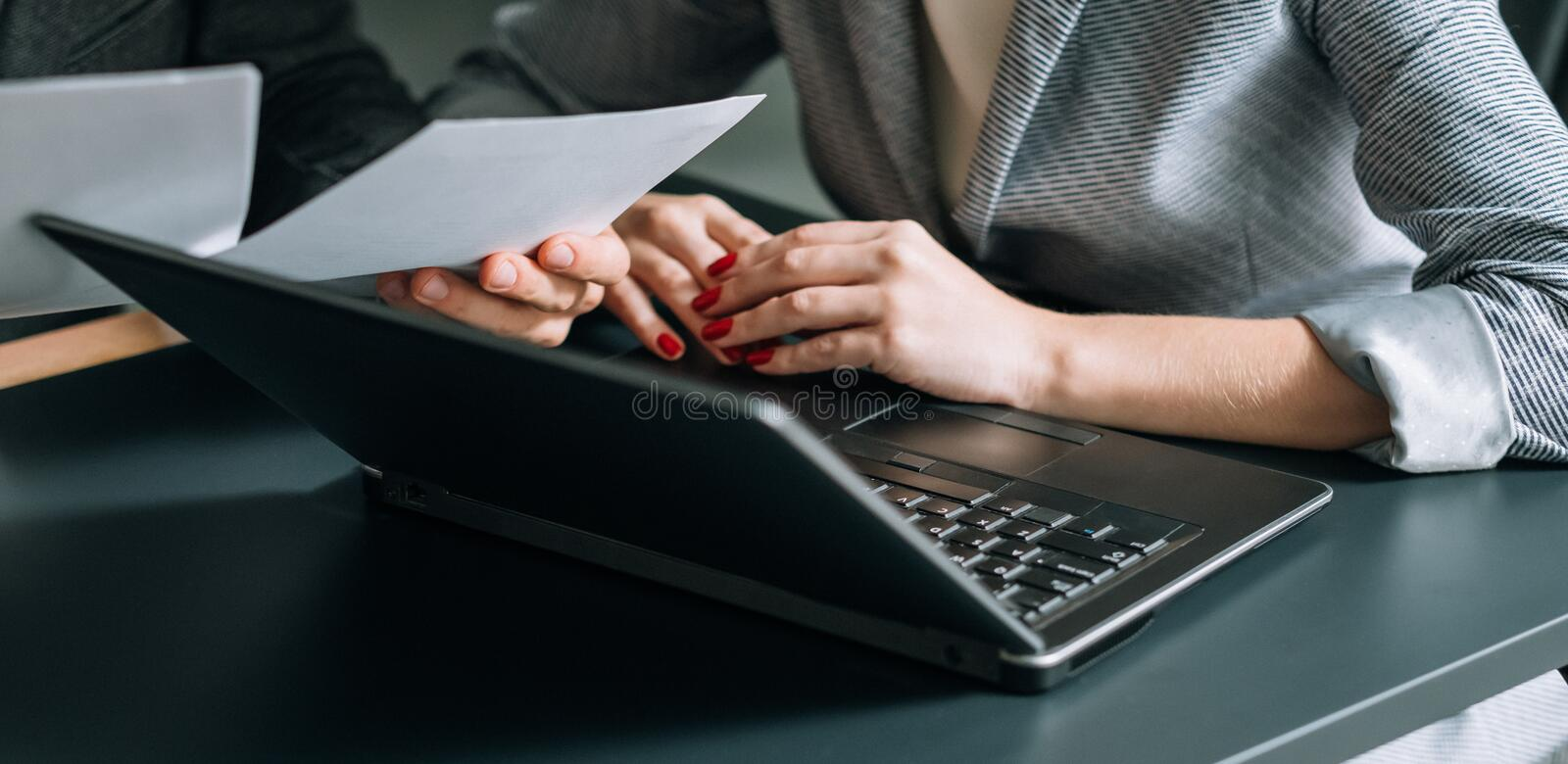 Coworking business matter office workplace laptop stock images