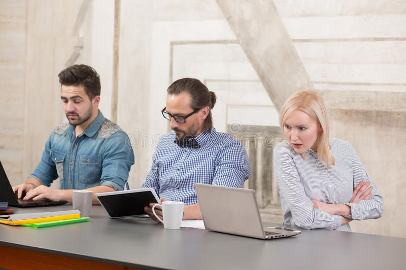 Coworking of businessteam royalty free stock images