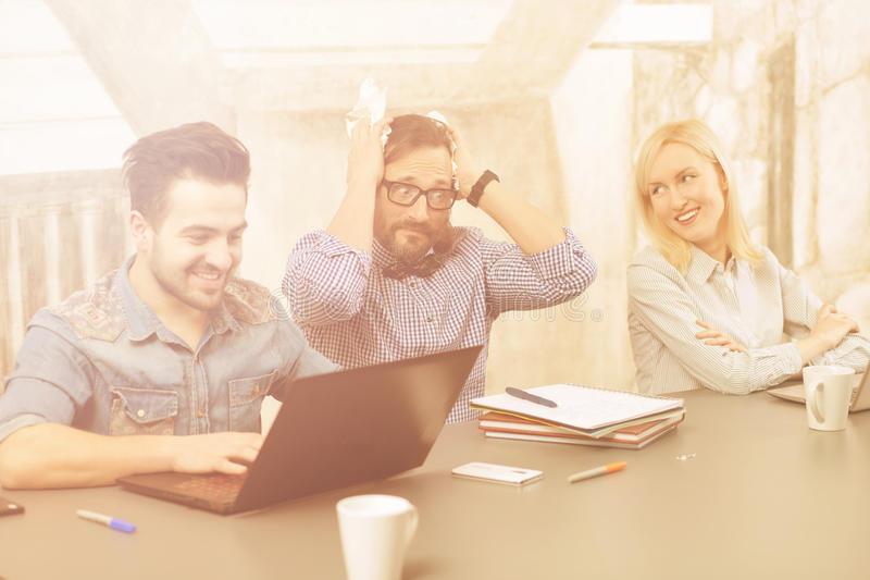 Coworking of businessteam royalty free stock photos