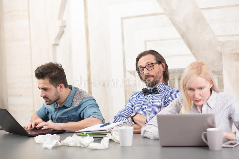 Coworking of businessteam stock photography