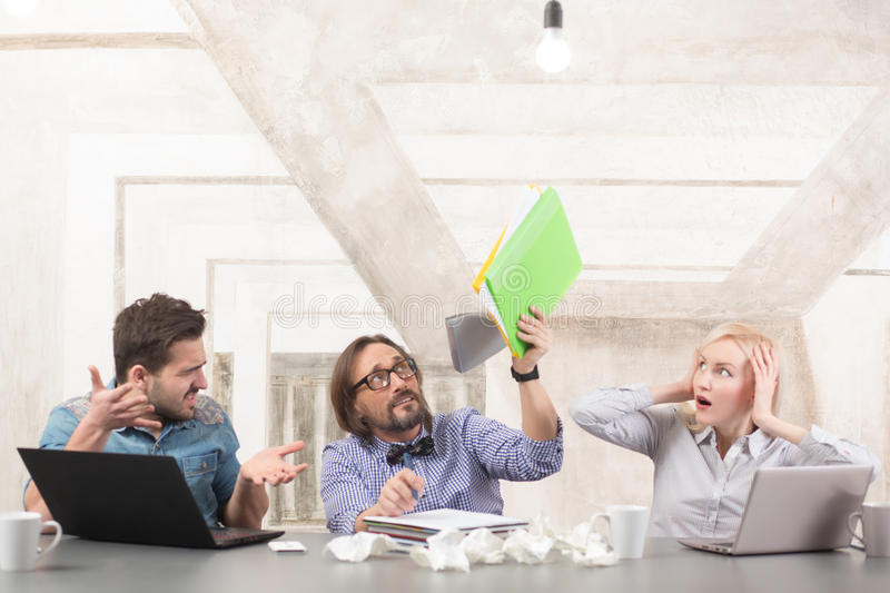 Coworking of businessteam stock images