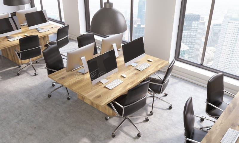 Coworking kontor från över stock illustrationer