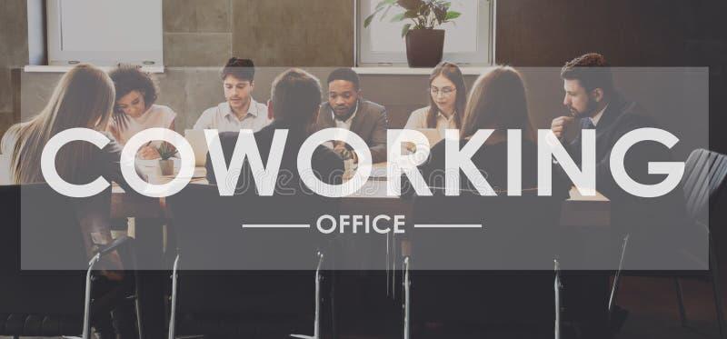 Coworking pojęcie biznesowego biura ludzie target759_1_ ilustracja wektor
