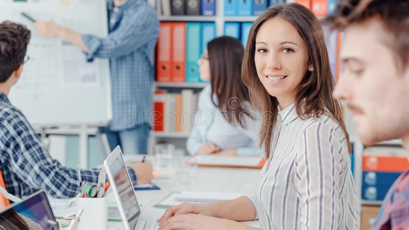 Coworking space and business people stock photos