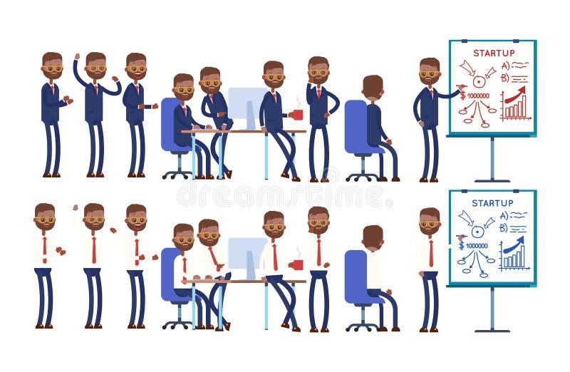 Coworking start, glade gruppdiskussioner, dra vektor illustrationer