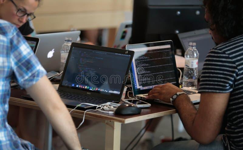 Coworking-Team lizenzfreies stockfoto