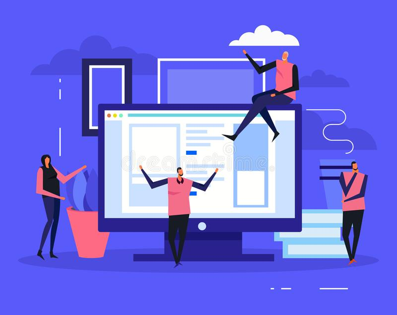 Coworking Team Background créatif illustration de vecteur