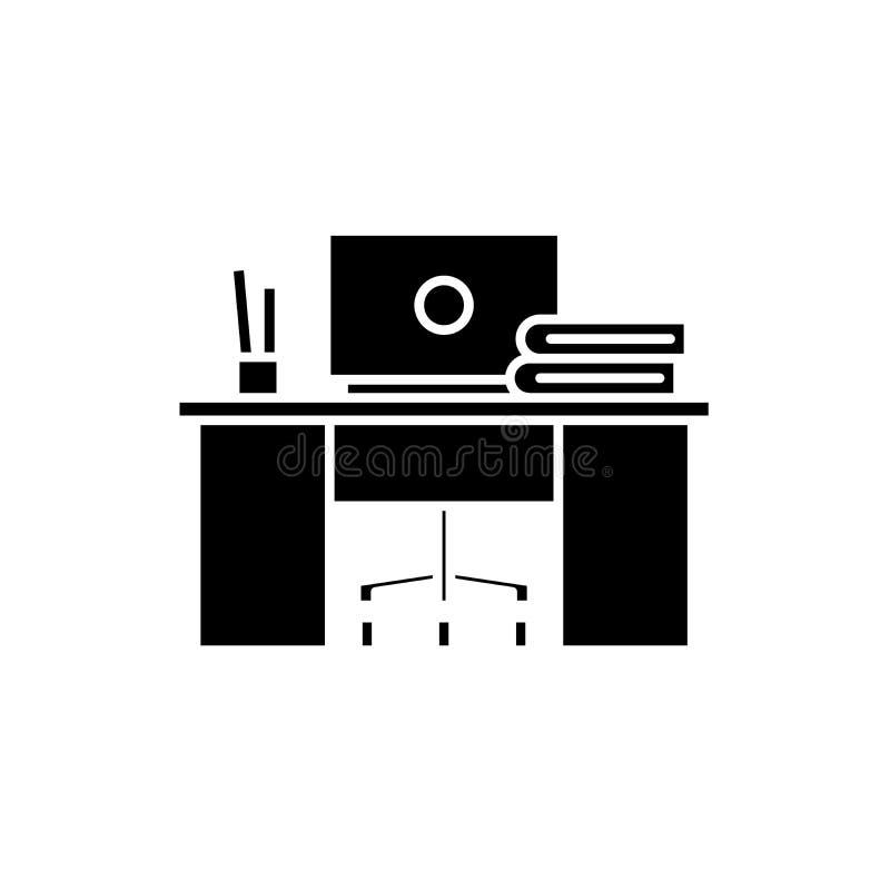 Coworkings zwart pictogram, vectorteken op geïsoleerde achtergrond Het symbool van het Coworkingsconcept, illustratie vector illustratie