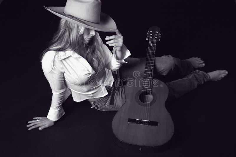 cowoy kapeluszu gitary piosenkarz fotografia royalty free
