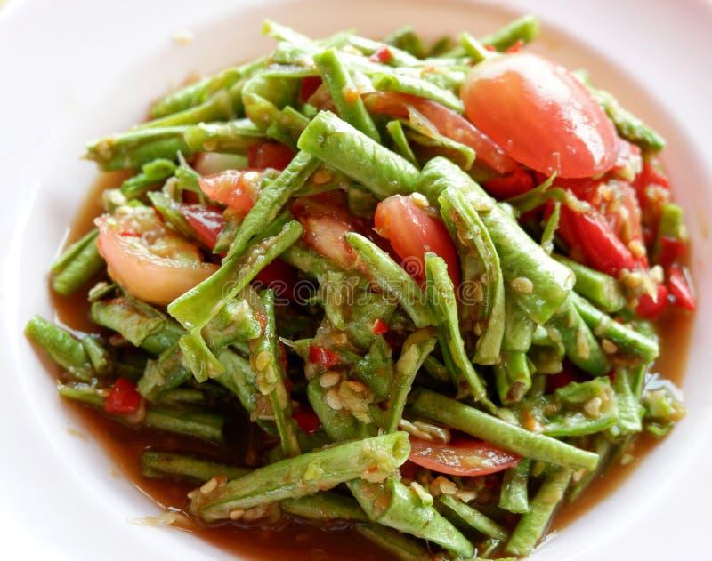 Cowpea gemengd salade kruidig royalty-vrije stock fotografie