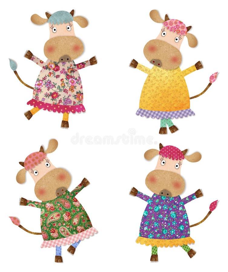 Download Cows. Cartoon Characters. Decorative Elements Stock Illustration - Illustration of shadow, cartoon: 39851438