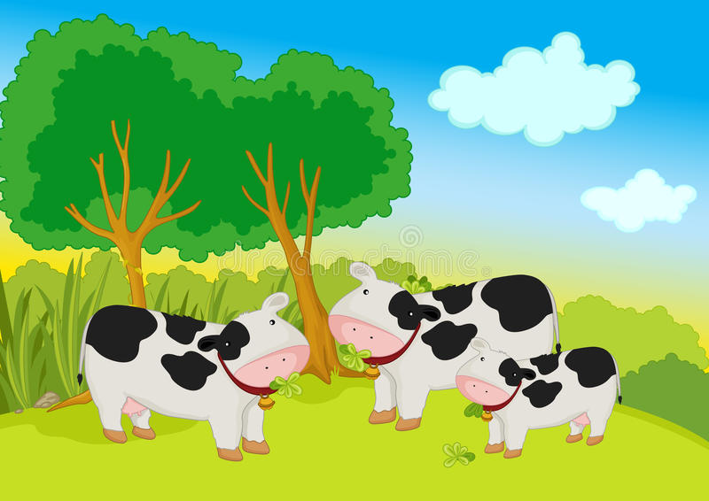 Download Cows stock vector. Image of mammal, domestic, sketch - 32709954