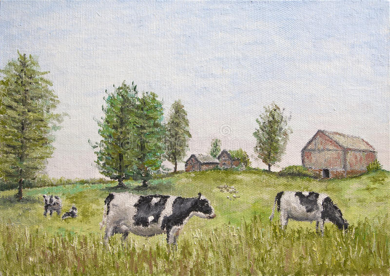 Download Cows in the meadow stock image. Image of cows, grazing - 56098285
