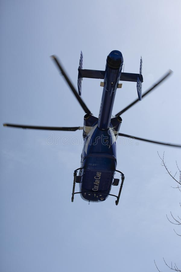 Air Ambulance Helicopter In Flight Lift Off Editorial Photo
