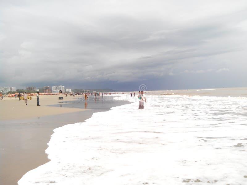 Cox& x27; oceano do mar da feira de s em Bangladesh imagens de stock royalty free