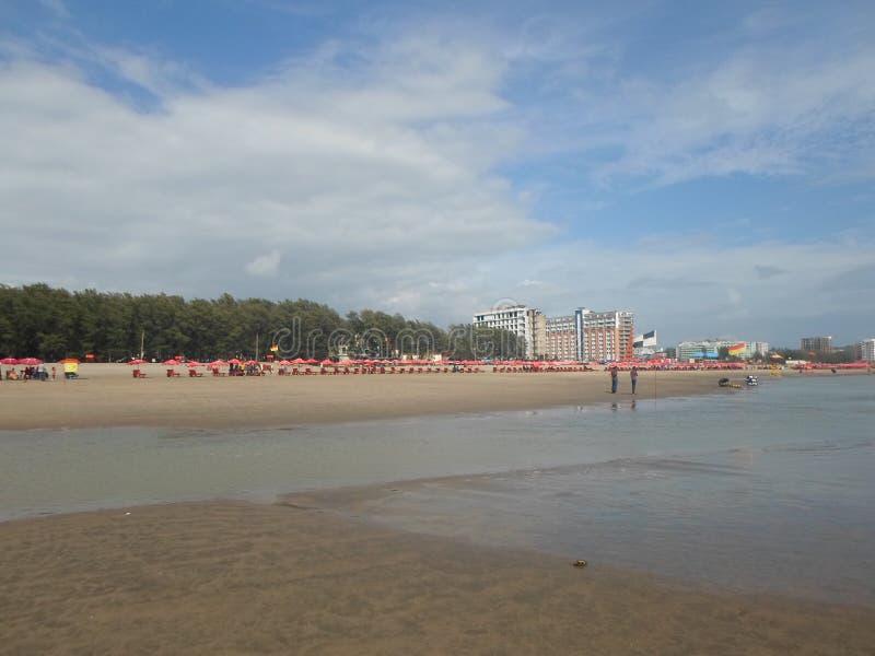 Cox's Bazar la plus longue plage de mer du monde image libre de droits