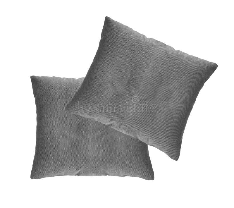 Coxim cinzento isolado foto de stock royalty free