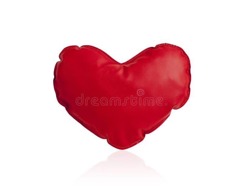 Coxim vermelho do coração foto de stock