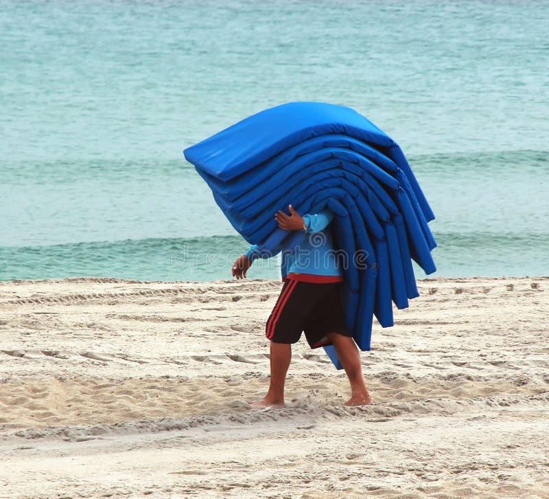 Coxins do vadio da praia imagens de stock