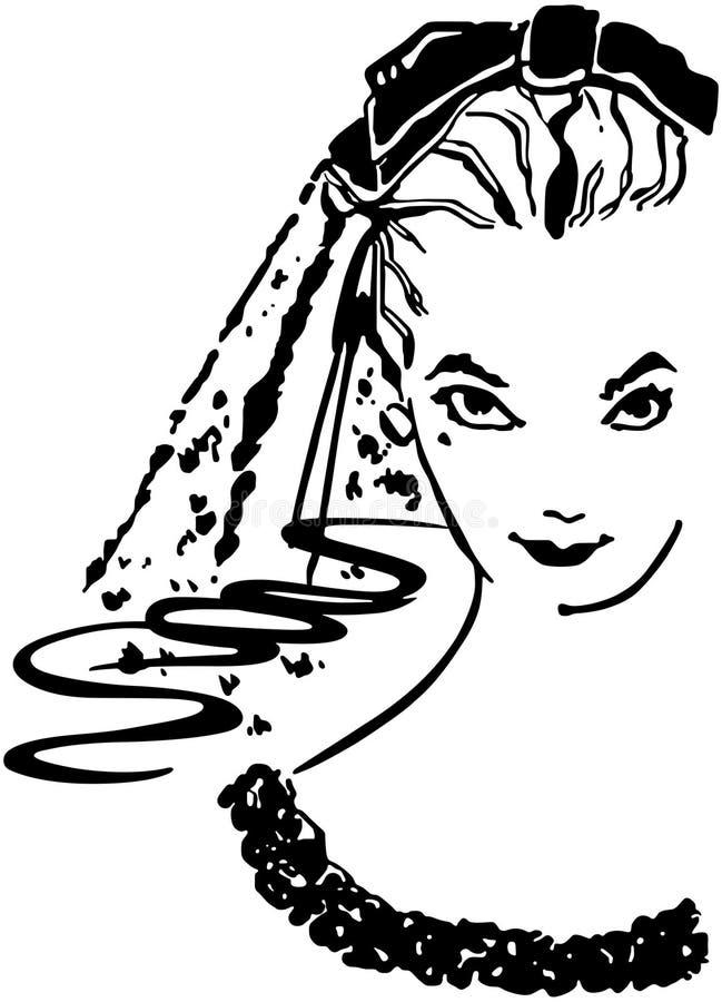 Coy Bride ilustração do vetor