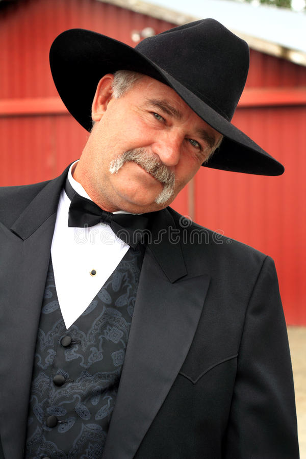 Coy Formal Cowboy photo stock