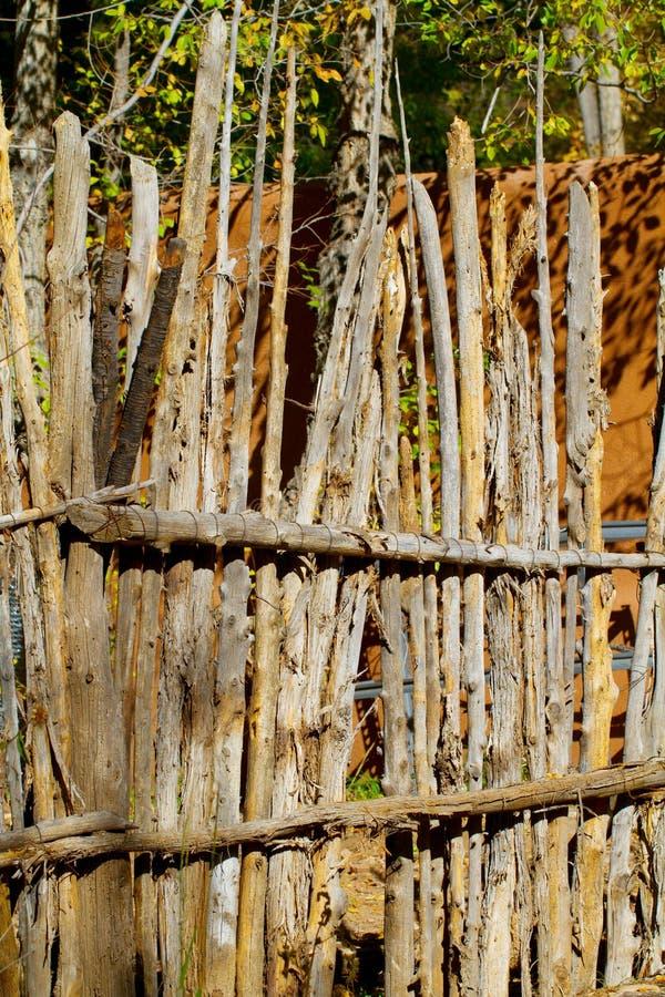 Coyote Fence. In Santa Fe, New Mexico stock photos