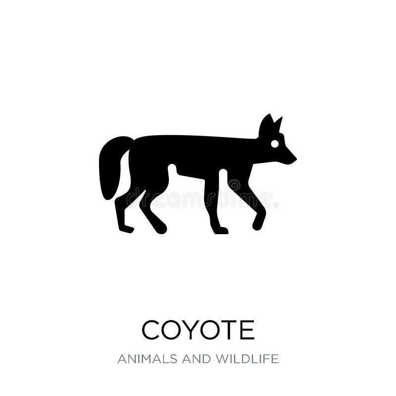 Coyote icon in trendy design style. coyote icon isolated on white background. coyote vector icon simple and modern flat symbol for. Web site, mobile, logo, app stock illustration