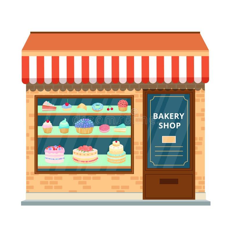 Coza a loja ilustração stock