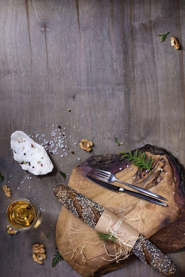 Cozendo ou cozinhando o fundo Ingredientes, artigos da cozinha foto de stock