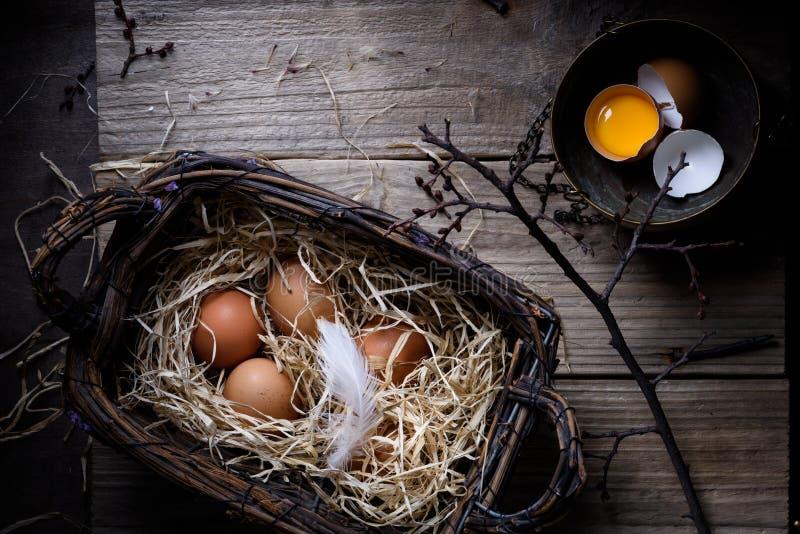 Cozendo ou cozinhando o fundo Ingredientes, ovos para bolos de cozimento fotos de stock
