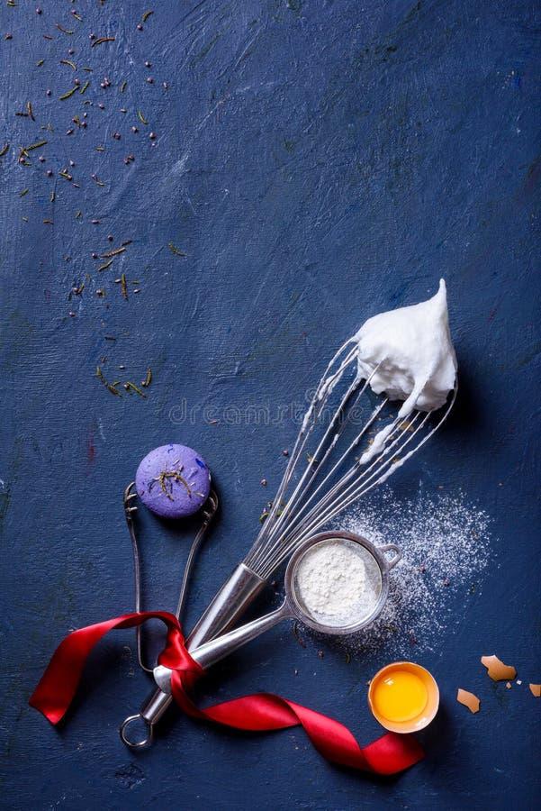 Cozendo ou cozinhando o quadro do fundo ingredientes Ano novo, parte superior vi imagens de stock royalty free