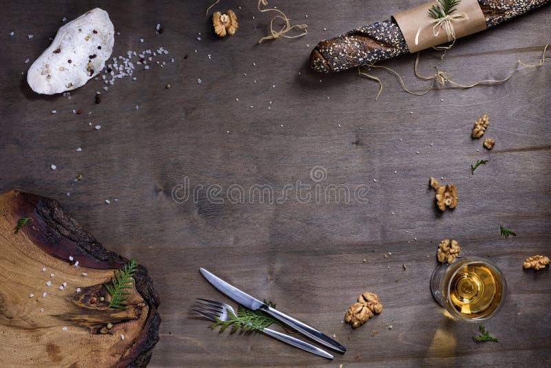 Cozendo ou cozinhando o quadro do fundo Ingredientes, cozinha foto de stock royalty free